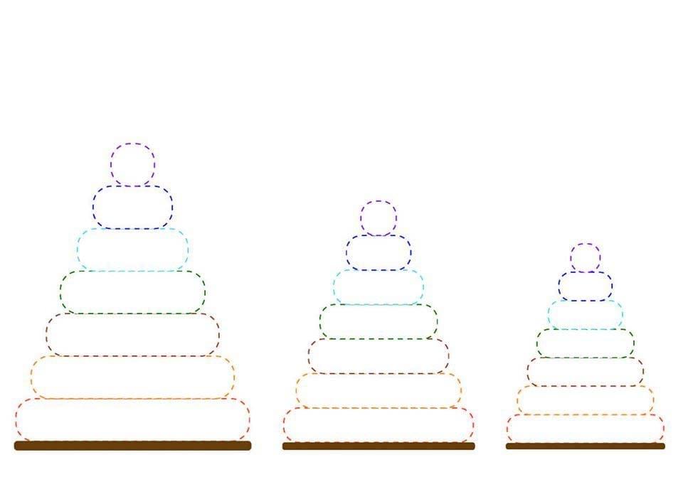 Atividade de grafomotricidade com piramide