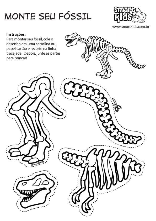 Atividade de montar fosseis de dinossauros 04