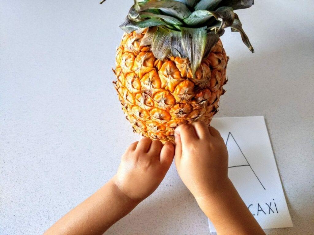 Atividade para explorar os sentidos com abacaxi 04