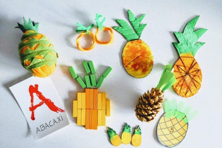 Atividades com abacaxi para Educacaoo Infantil