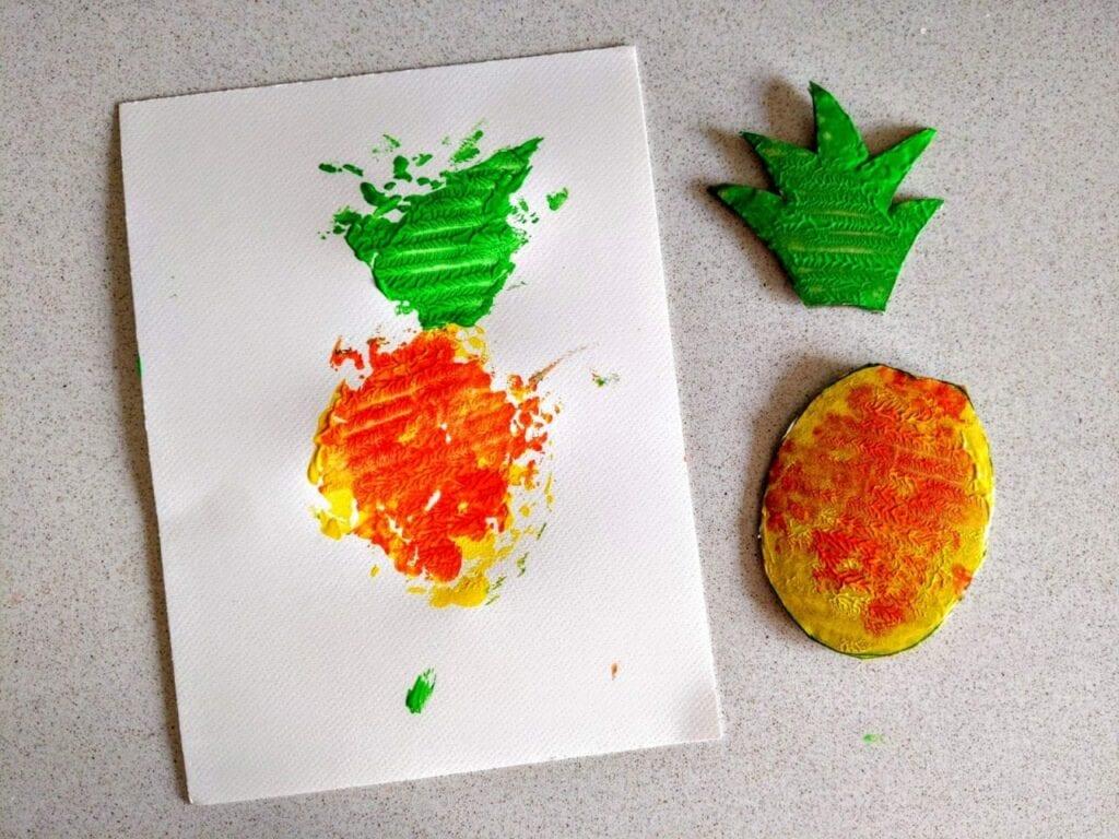 Como fazer carimbo de abacaxi 00