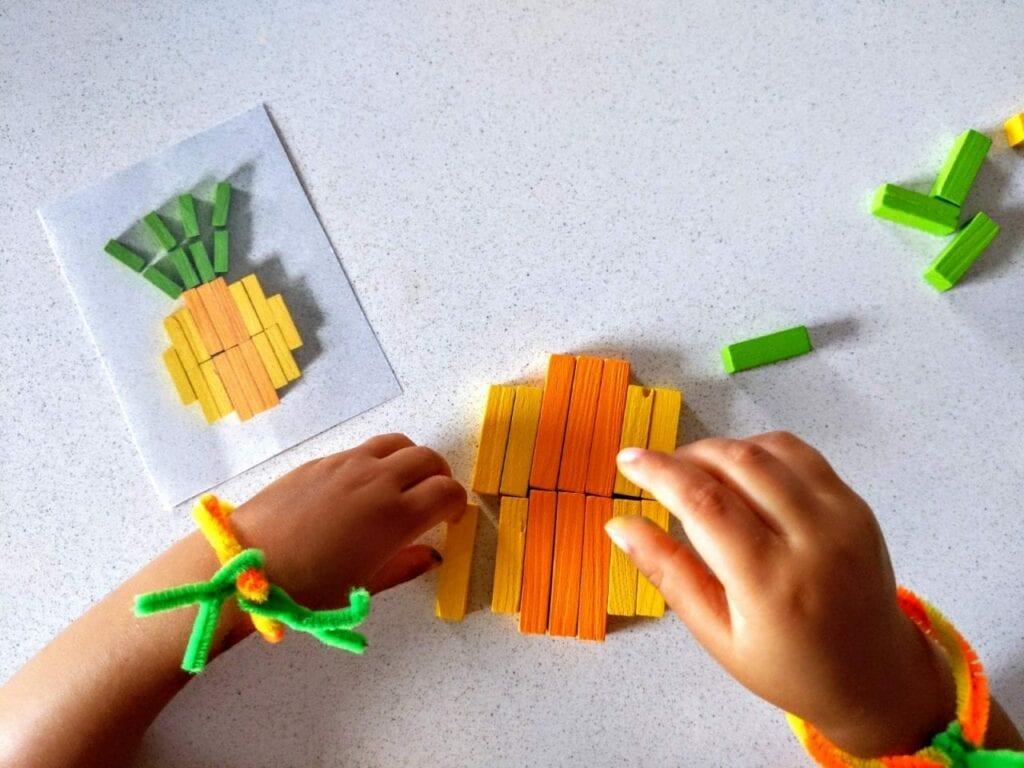 abacaxi com as barrinhas de Cuisenaire 03