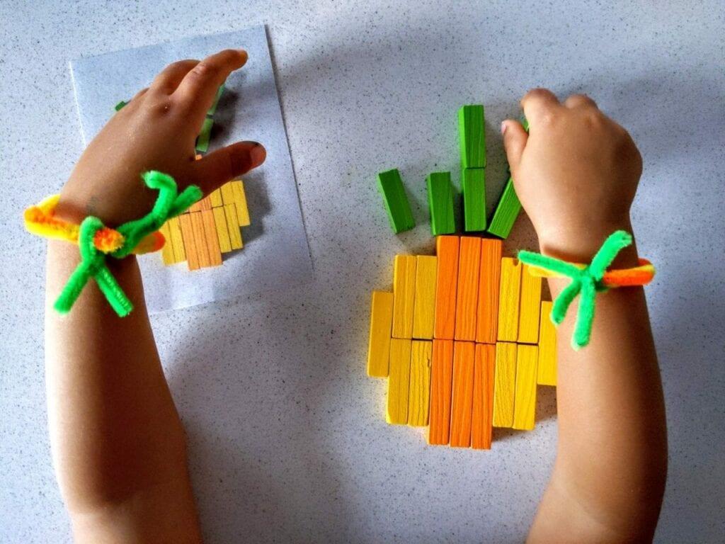 abacaxi com as barrinhas de Cuisenaire 04