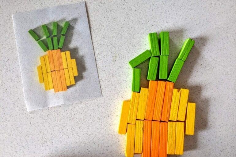 abacaxi com as barrinhas de Cuisenaire 06