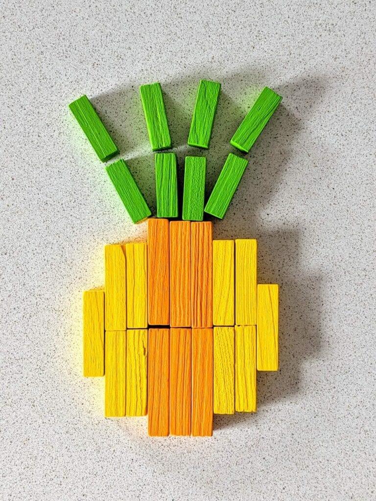 abacaxi com as barrinhas de Cuisenaire 07