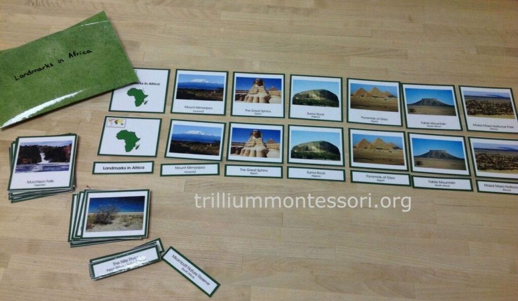 Atividades sobre a África montessorianas