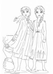 desenho da frozen 2 para colorir
