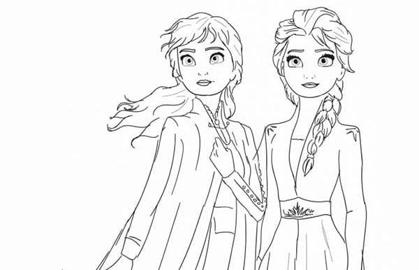 desenhos da frozen 2 para colorir