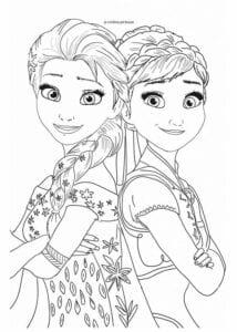 desenhos da frozen 2 para imprimir