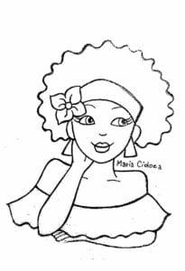Dia da Consciência Negra desenho para imprimir