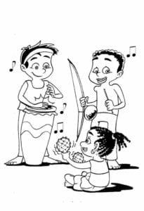 Dia da Consciência Negra desenho para pintar