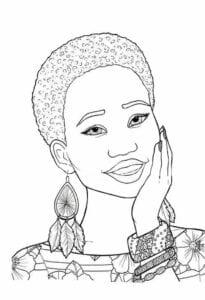 Dia da Consciência Negra para colorir 02