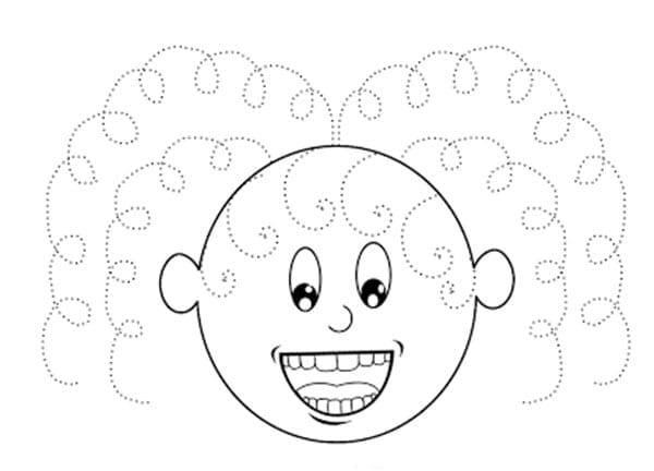 Grafomotricidade com cabelos cacheados