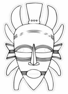 Máscaras africanas para colorir