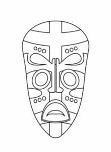 Máscaras africanas para imprimir