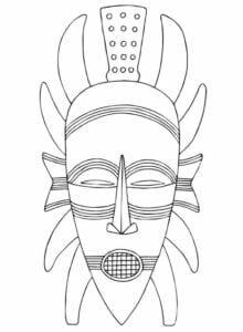 Máscaras africanas para pintar