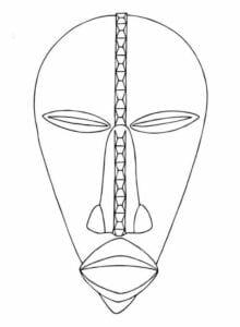Moldes de Máscaras africanas para imprimir