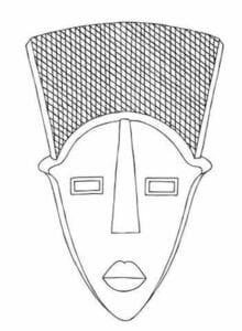 Moldes de Máscaras africanas para pintar