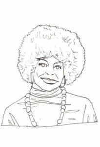 Mulher cabelo afro Consciência Negra colorir