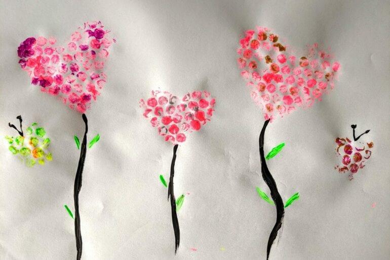Pintura com plástico bolha