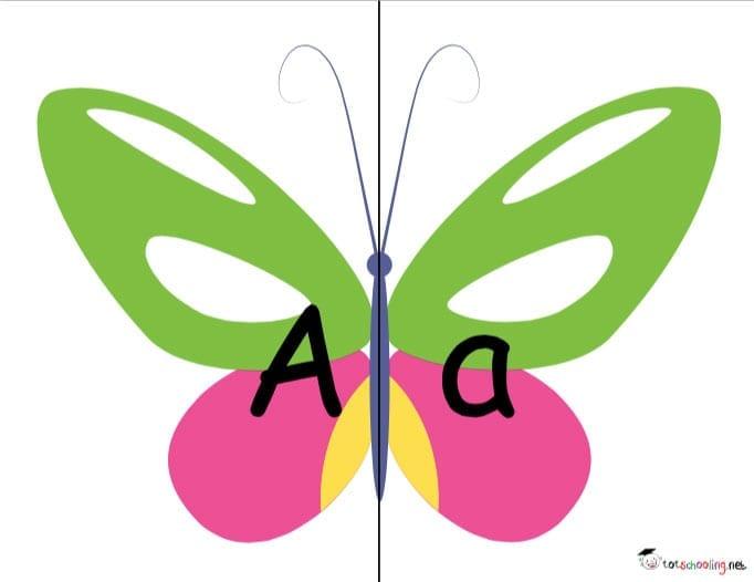 alfabeto com letras maiusculas e minusculas