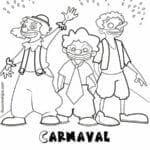 desenho para pintar carnaval