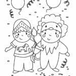 desenhos de carnaval para colorir educacao infantil