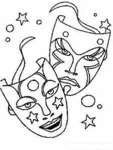 desenhos de mascaras de carnaval para colorir
