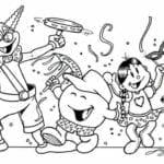 gravuras de carnaval para colorir