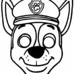 mascaras de carnaval para imprimir chase patrulha canina