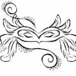 mascaras de carnaval para imprimir com plumas