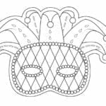 mascaras de carnaval para imprimir de arlequim