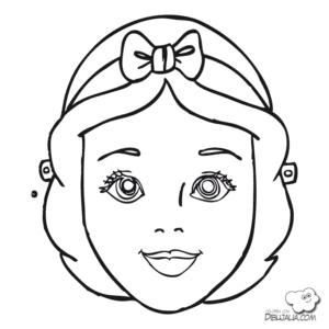 mascaras de carnaval para imprimir de branca de neve