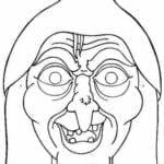 mascaras de carnaval para imprimir de bruxa