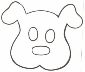 mascaras de carnaval para imprimir de cachorro bonito