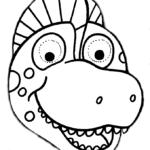 mascaras de carnaval para imprimir de dinossauro 1
