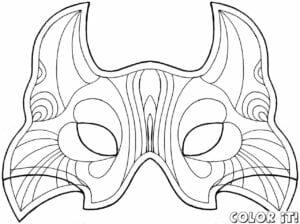 mascaras de carnaval para imprimir de dragao