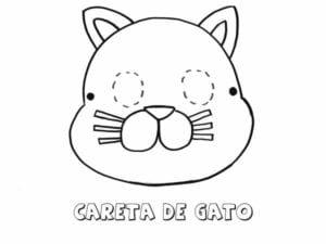 mascaras de carnaval para imprimir de gato
