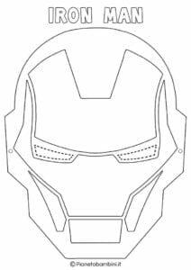 mascaras de carnaval para imprimir de iron man 1