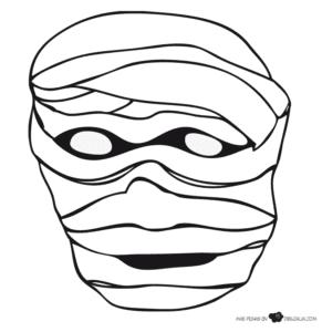 mascaras de carnaval para imprimir de mumia