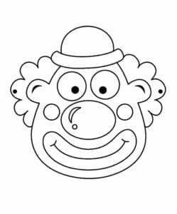 mascaras de carnaval para imprimir de palhacinho