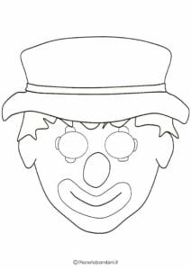 mascaras de carnaval para imprimir de palhaco 1