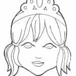 mascaras de carnaval para imprimir de princesa