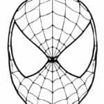 mascaras de carnaval para imprimir de spiderman