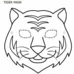 mascaras de carnaval para imprimir de tigre branco