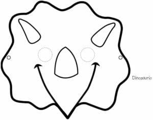 mascaras de carnaval para imprimir de tricerapto