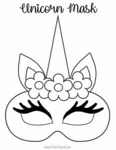 mascaras de carnaval para imprimir de unicornio 1