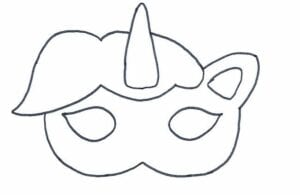 mascaras de carnaval para imprimir de unicornio
