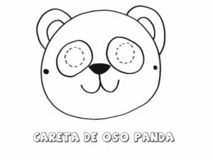 mascaras de carnaval para imprimir de urso panda