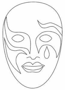 mascaras de carnaval para imprimir de veneza 1